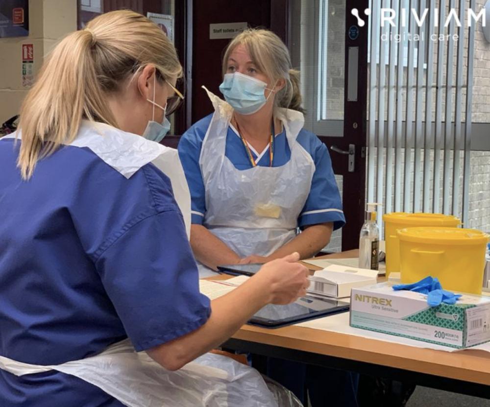 Immunisation Nurses In Somerset Using Riviam Immunisations App