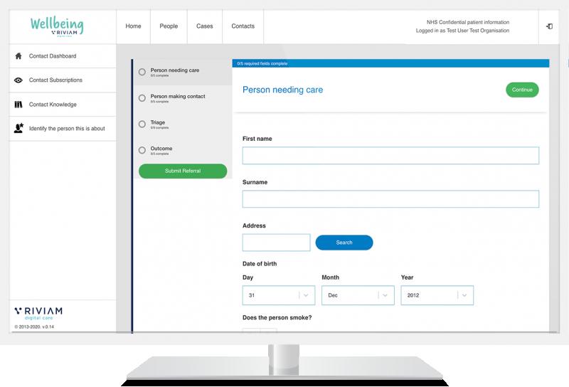 Create a case online